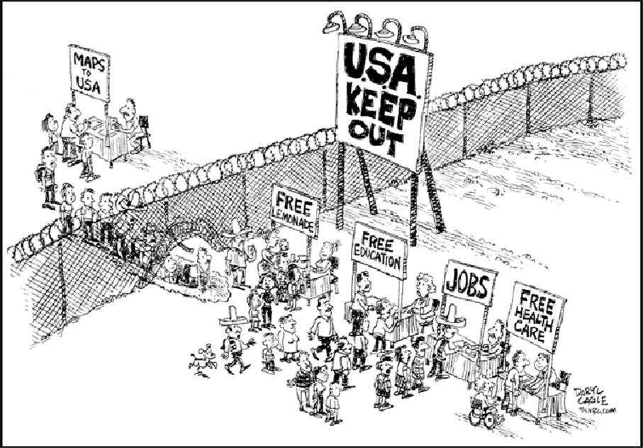 illegal immigrants takers