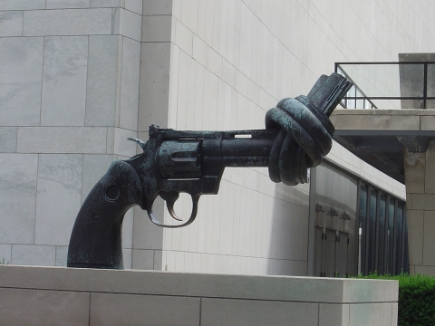At the UN HQ. Any question as to the goals of this horrid regime?