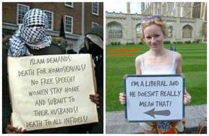 liberals defend islam